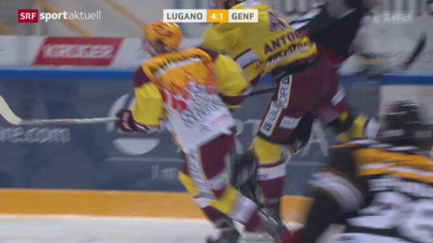 Video «Eishockey: Chiesas Check gegen Antonietti» abspielen