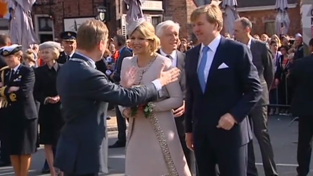 Video «Willem-Alexander und Máxima auf Tour durch die Niederlanden» abspielen
