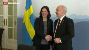 Video «Schweiz und Schweden intensivieren Zusammenarbeit» abspielen