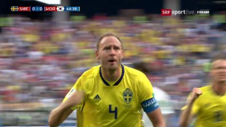Link öffnet eine Lightbox. Video Granqvist schiesst Schweden zum Sieg abspielen