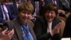 Video «Bundesratswahl: strahlende Gewinner, aber auch Verlierer» abspielen