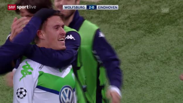 Video «Fussball: CL, Wolfsburg - Eindhoven» abspielen