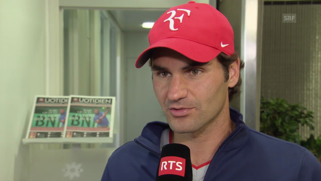Tennis, French Open: Interview mit Roger Federer (franz.)