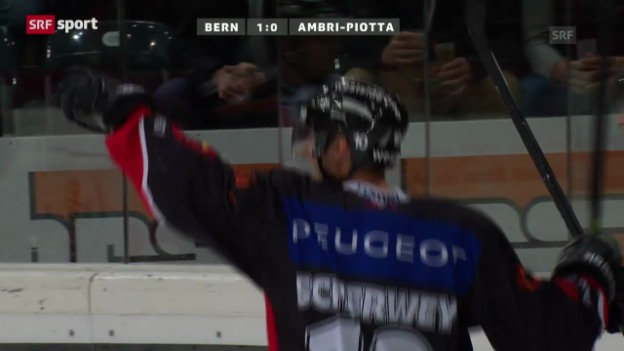 Video «Eishockey: Bern-Ambri («sportaktuell»)» abspielen
