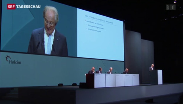 Video «Holcim-Generalversammlung im Zeichen der Fusion» abspielen