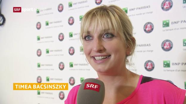 Video «Bacsinszky vor dem French-Open-Start» abspielen