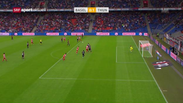 Video «Thun ringt Basel ein Unentschieden ab» abspielen