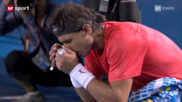Video «Tennis: Australian Open Halbfinal 2011: Nadal - Ferrer («sportaktuell»)» abspielen