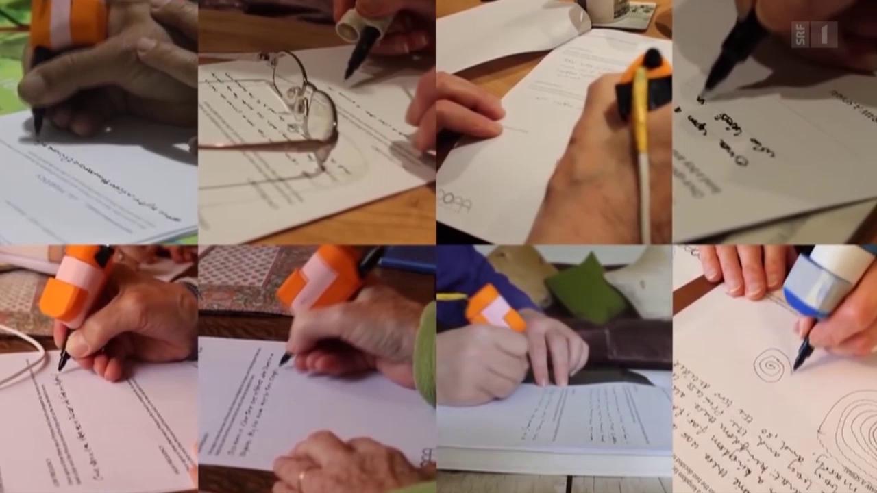 Schreibhilfe für Parkinsonpatienten
