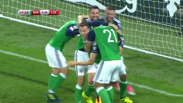 Video «Nordirland - Tschechien: Die Tore» abspielen