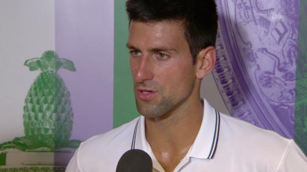 Video «Tennis: Interview mit Novak Djokovic» abspielen