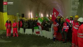 Video «Erstes Teilstück des Ceneri-Basistunnels durchbrochen » abspielen
