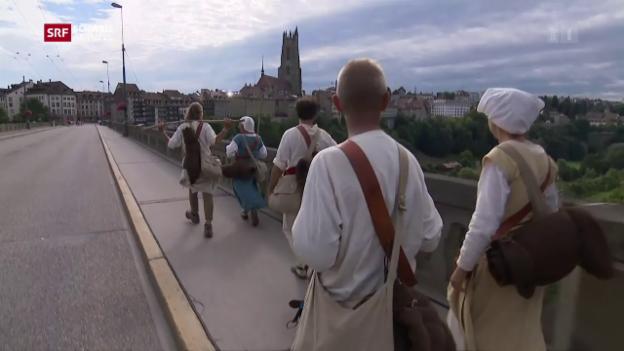 Video «Finale Pilgeretappe: Ankunft in Fribourg» abspielen