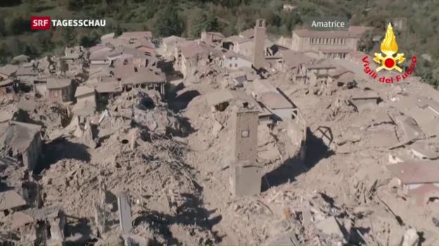 Video «Erneutes Erdbeben in Italien» abspielen