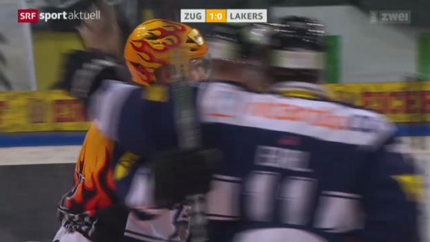 Video «Eishockey: Zug - Lakers» abspielen