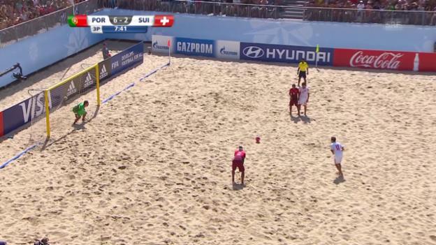 Video «Beachsoccer: Portugal - Schweiz, 6:3 Schweiz» abspielen