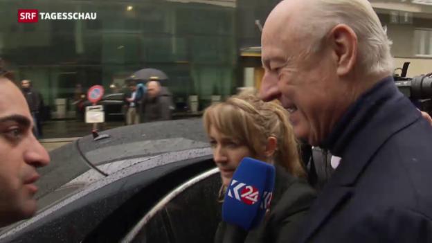 Video «Harziger Verhandlungsstart in Genf» abspielen