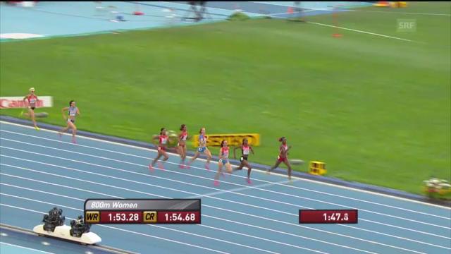 LA-WM: 800 m der Frauen