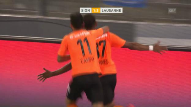 Video «Lausanne fährt gegen Sion den ersten Dreier ein» abspielen