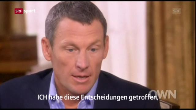 Armstrong gesteht Dopingmissbrauch («sportaktuell»)