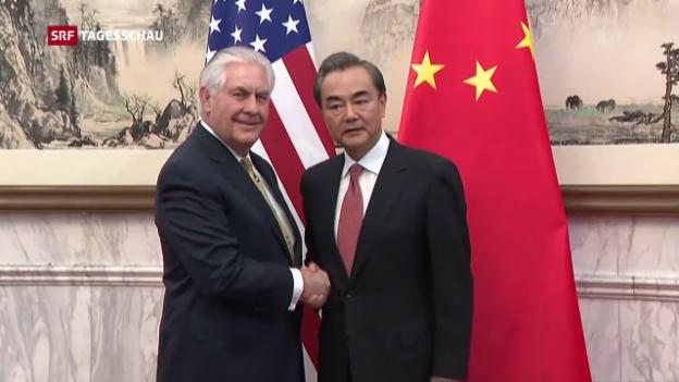 Video «US-Aussenminister in China» abspielen