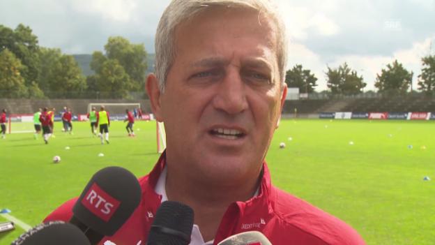 Video «Fussball: EM-Qualifikation 2016, Interview mit Vladimir Petkovic» abspielen