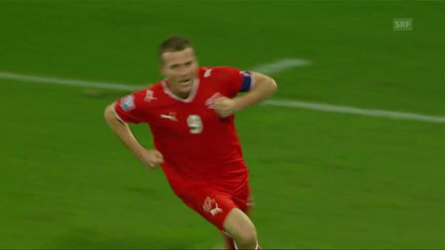 Video «2008: Schweiz vs. Lettland – kapitaler Erfolg nach Luxemburg-Pleite» abspielen