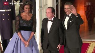 Video «Hollande auf Staatsbesuch in den USA» abspielen