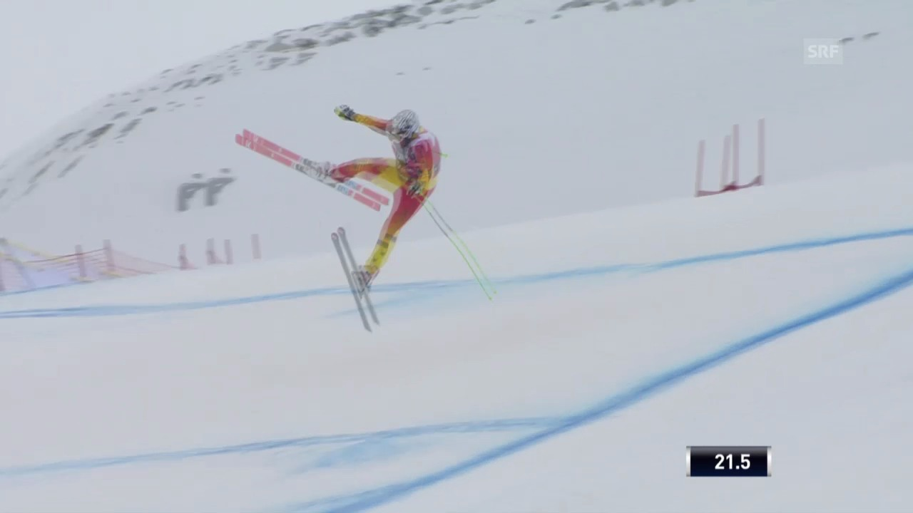 Ski: Abfahrt Männer Santa Caterina, Sprung Osborne-Paradis