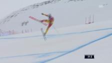 Video «Ski: Abfahrt Männer Santa Caterina, Sprung Osborne-Paradis» abspielen