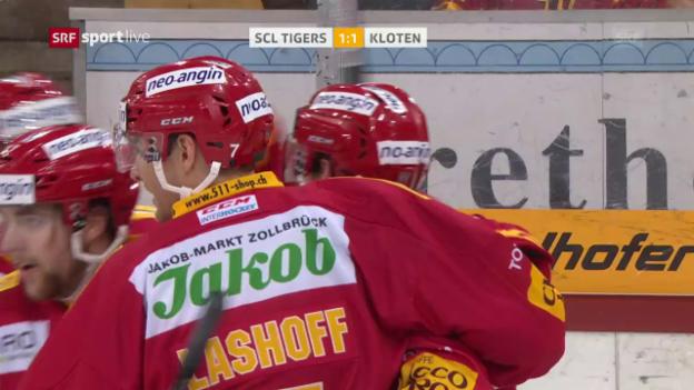 Video «SCL Tigers mit Heimsieg gegen Kloten» abspielen
