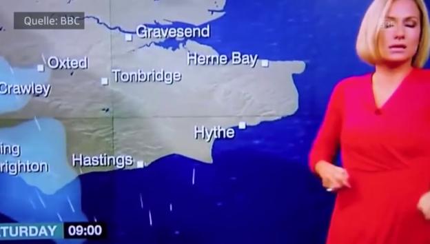 Video ««BBC»-Wettermoderatorin bricht zusammen» abspielen