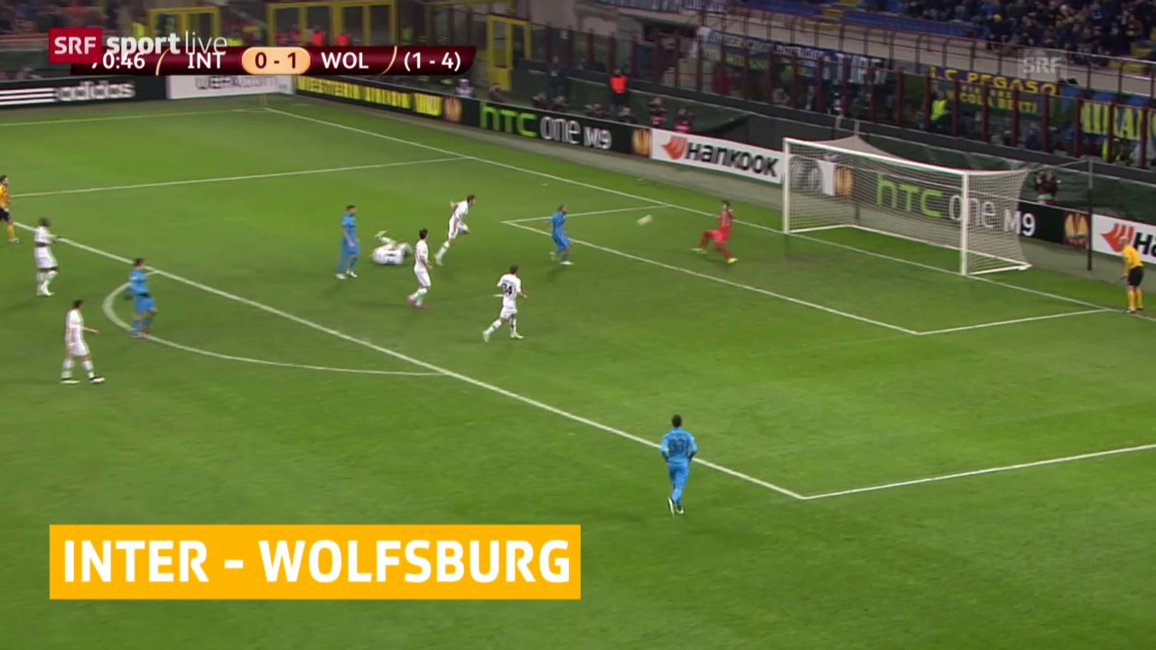 Fussball: Europa League, Achtelfinal Inter Mailand - VfL Wolfsburg