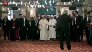 Video «Papst Franziskus besucht Moschee in Istanbul» abspielen