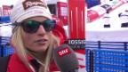 Video «Ski Alpin: WM 2015 Vail/Beaver Creek, Super-G Frauen, Interview Lara Gut» abspielen