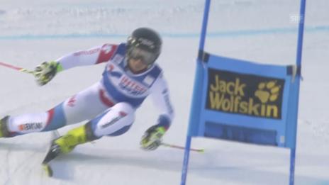 Video «Ski alpin: Weltcup-Riesenslalom in Are, Simone Wild» abspielen