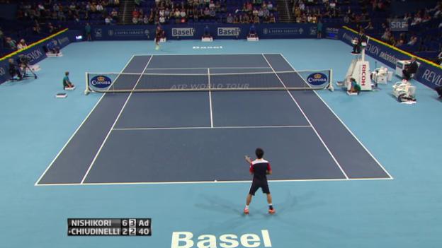 Video «Nishikori - Chiudinelli: Beste Ballwechsel («sportlive»)» abspielen