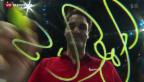 Video «Federer nimmt Kurs auf Halbfinals» abspielen