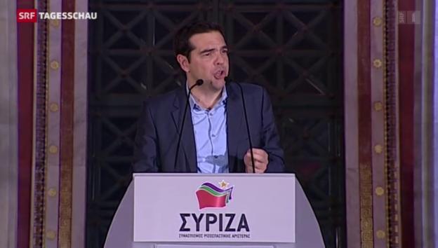Video «Syriza feiert deutlichen Wahlsieg» abspielen