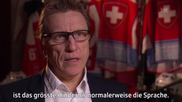 Video «Eishockey: Nati-Coach Glen Hanlon über die Schweiz» abspielen