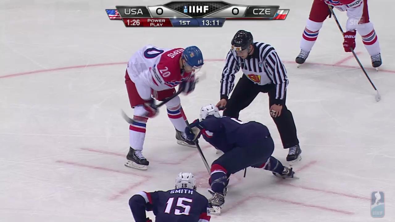 Eishockey: WM-Viertelfinal Tschechien - USA, alle Tore