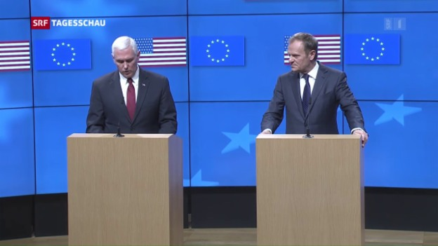 Video «Mike Pence in Brüssel» abspielen
