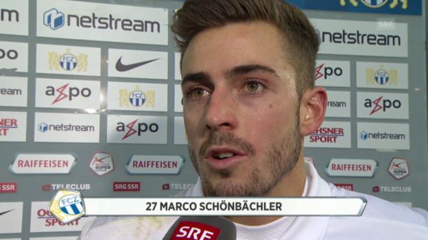 Video «Fussball: Super League, FC Basel - FC Zürich, Interview Schönbächler» abspielen