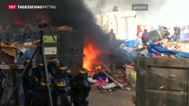 Video «Auseinandersetzungen in Calais» abspielen
