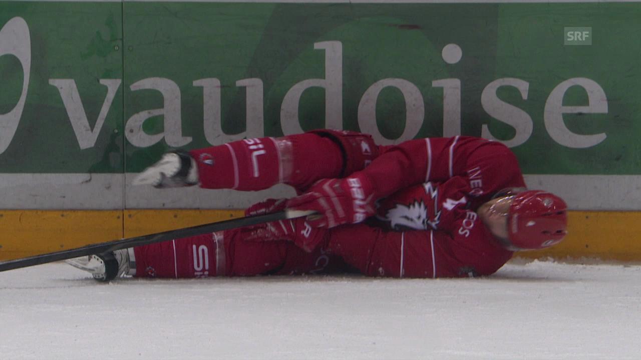 Eishockey: Lausanne-Lakers, Verletzung Lardi