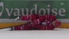 Video «Eishockey: Lausanne-Lakers, Verletzung Lardi» abspielen