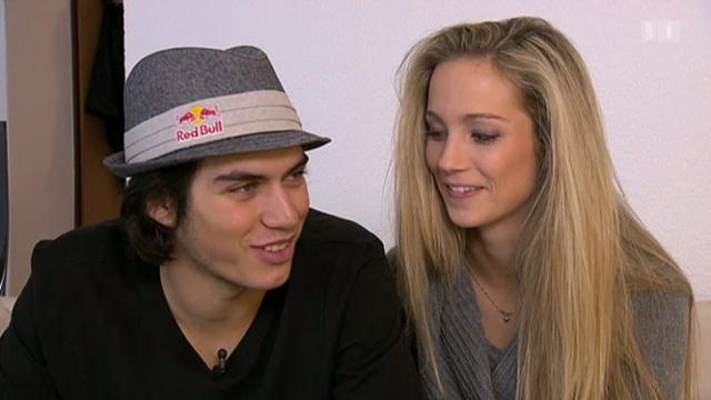 Elias Ambühl und seine Freundin Sarah Pedrett
