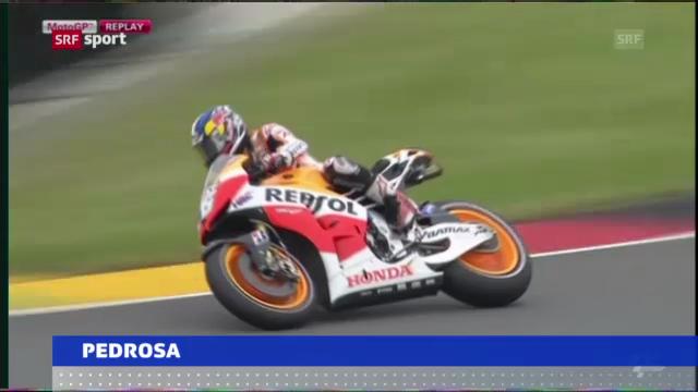 Pedrosa stürzt auf dem Sachsenring («sportaktuell»)