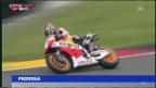 Video «Pedrosa stürzt auf dem Sachsenring («sportaktuell»)» abspielen