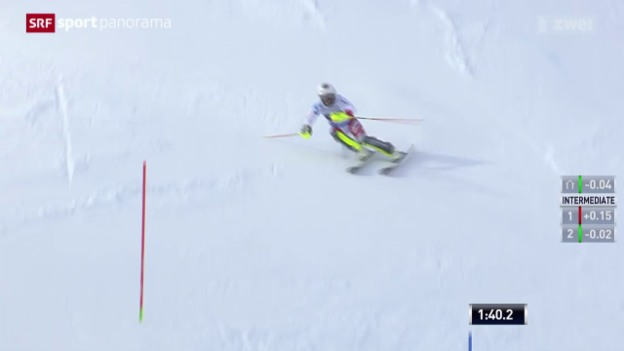 Video «Ski alpin: Frauen Slalom in Are» abspielen